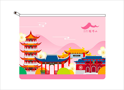 Architectural style file bag (pink)